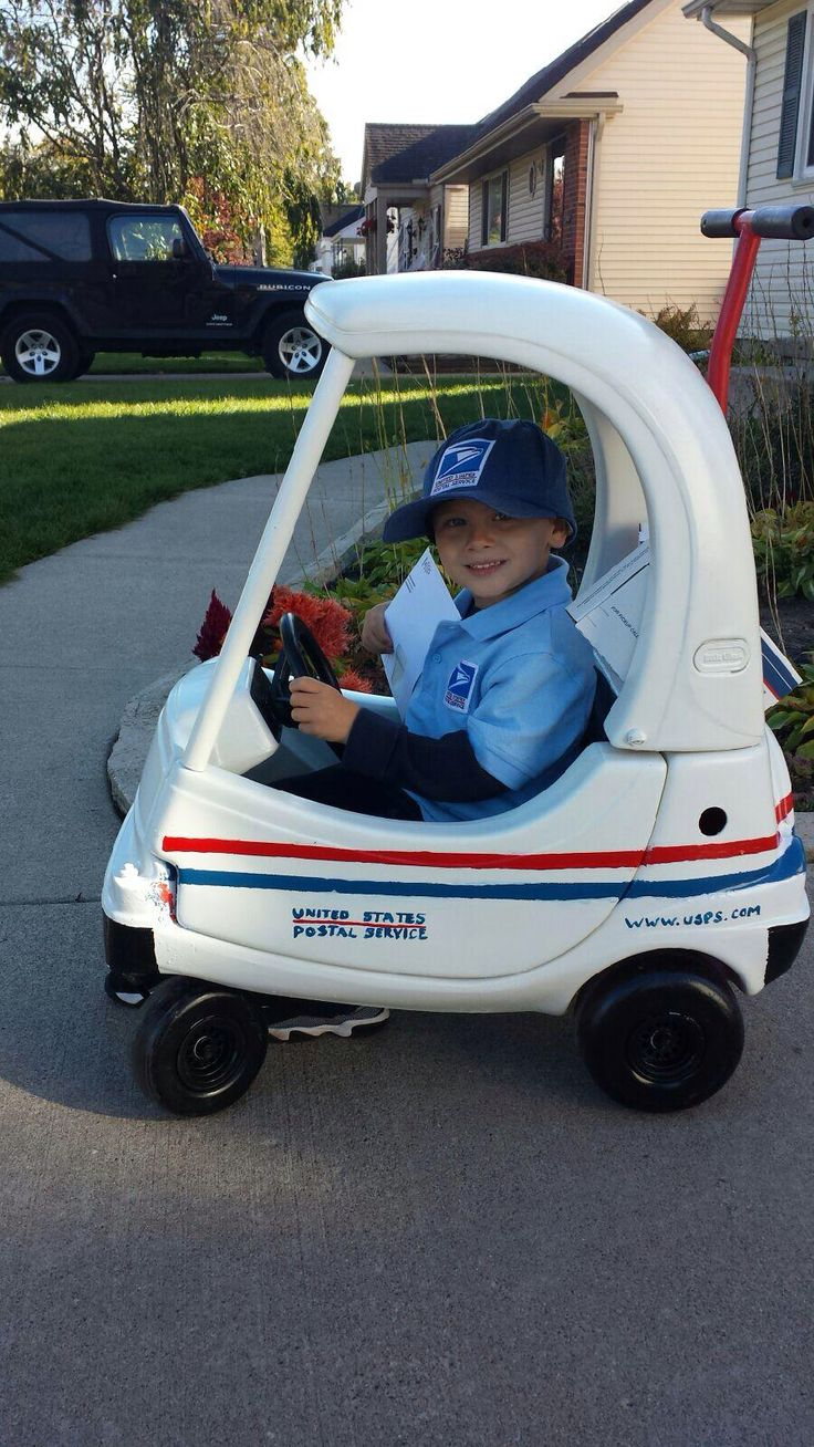 Costume we made for my sons Halloween costume the most handsome mailman yet :)