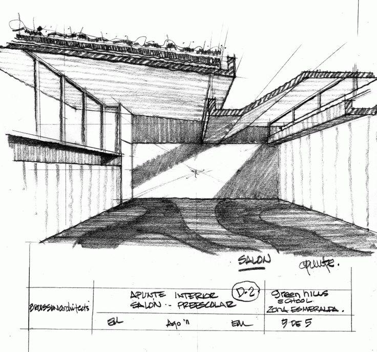 Green Hills Kinder / Broissin Architects #handdrawing #detail