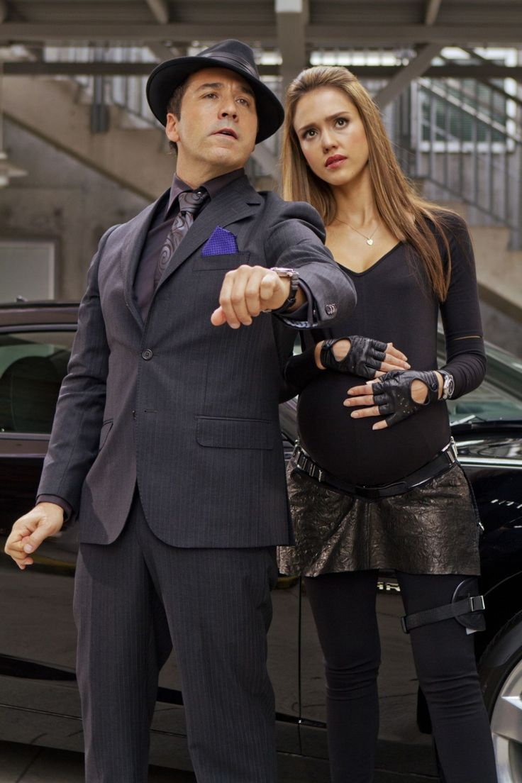 Jeremy Piven y Jessica Alba en Spy Kids 4: All the Time in the World