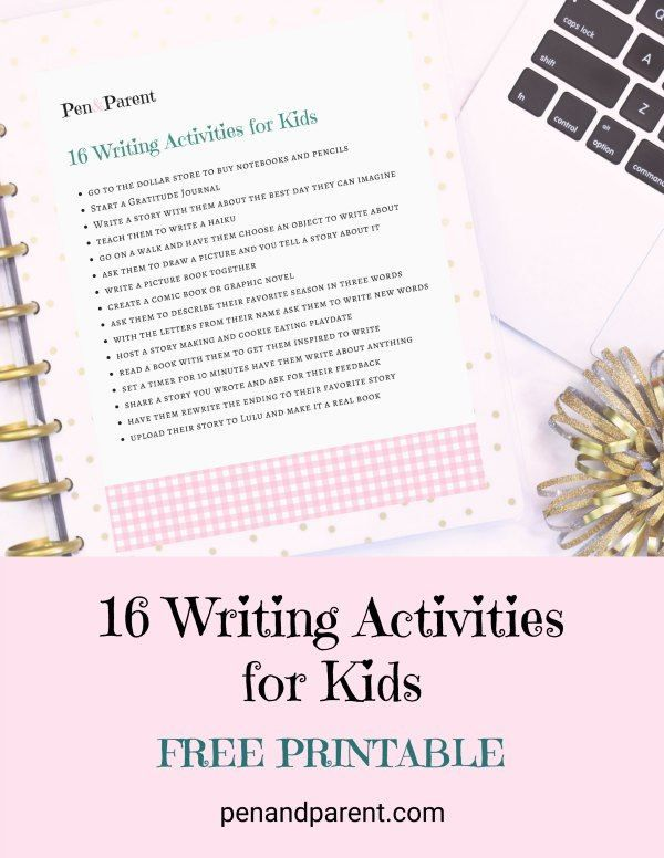 Do you want your child to learn how to write better? Check out these 16 writing activities for kids that will get your child to enjoy writing, write faster, better, and get better grades in school. You can also write with them in a gratitude journal.