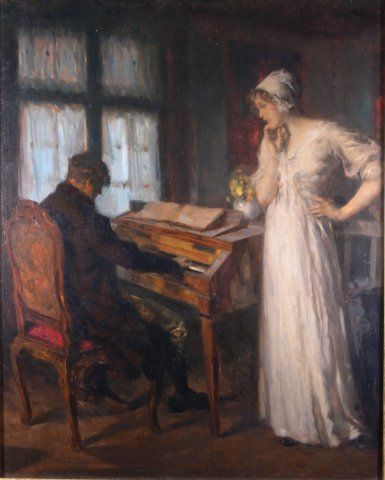 Das Lied (The Song), c. 1895, Carl von Marr, Museum of Wisconsin, 0341.