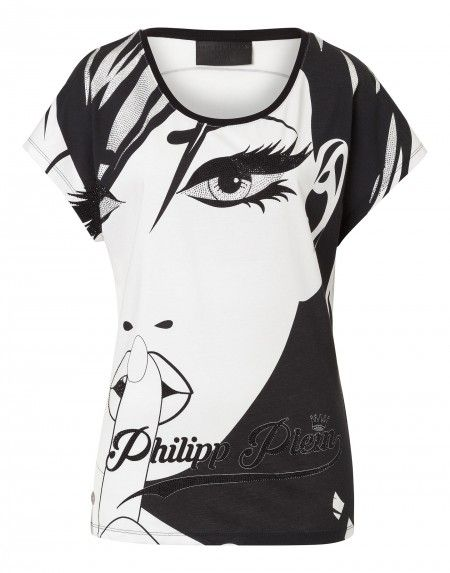 "Philipp Plein ""Face"" White T-Shirt"