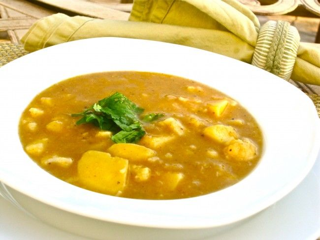sopa curry de coliflor