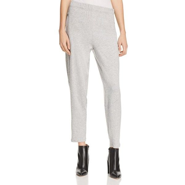 Eileen Fisher Petites Slouchy Tapered Pants (1,075 HKD) ❤ liked on Polyvore featuring pants, dark pearl, petite, white jogger pants, drop crotch jogger pants, petite jogger pants, eileen fisher pants and petite white pants