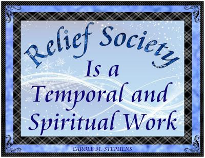 Keeping Focused: January 2017 Visiting Teaching Handout & Poster.......Relief Society Is a Temporal and Spiritual Work