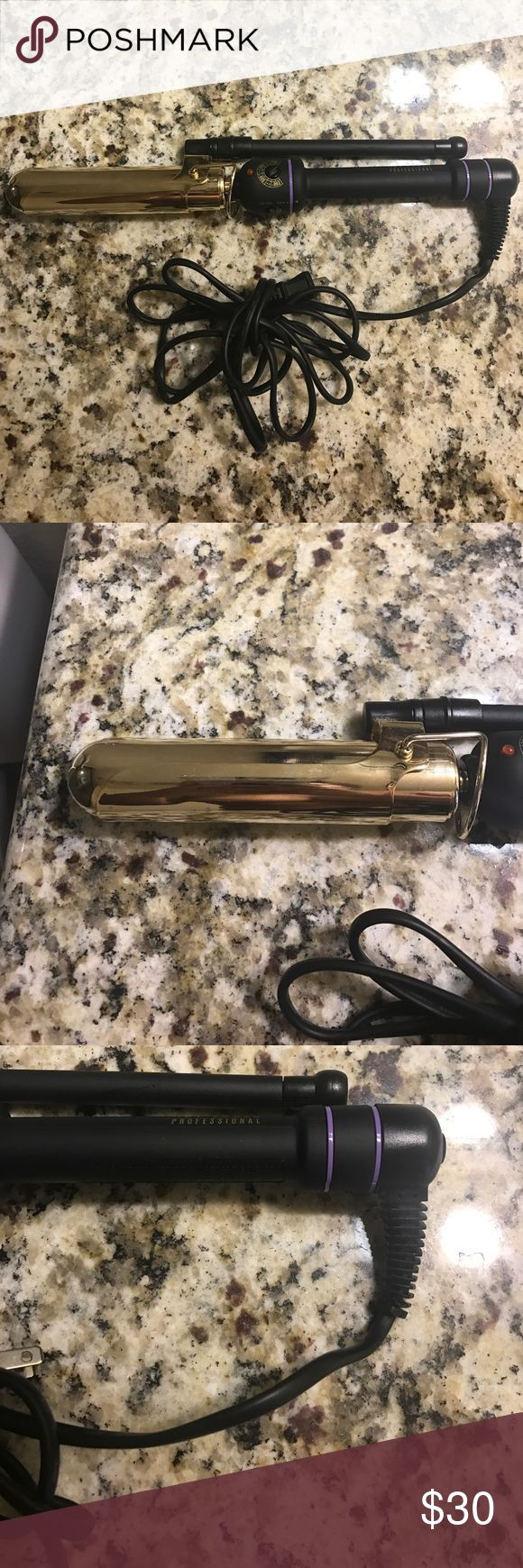 1inch Marcel curling iron! Hot Tools professional curling iron. I used this item once for a show and it's sat in my hair kit since along with another one I'll be posting later on today! Hot Tools Professional Makeup Brushes & Tools