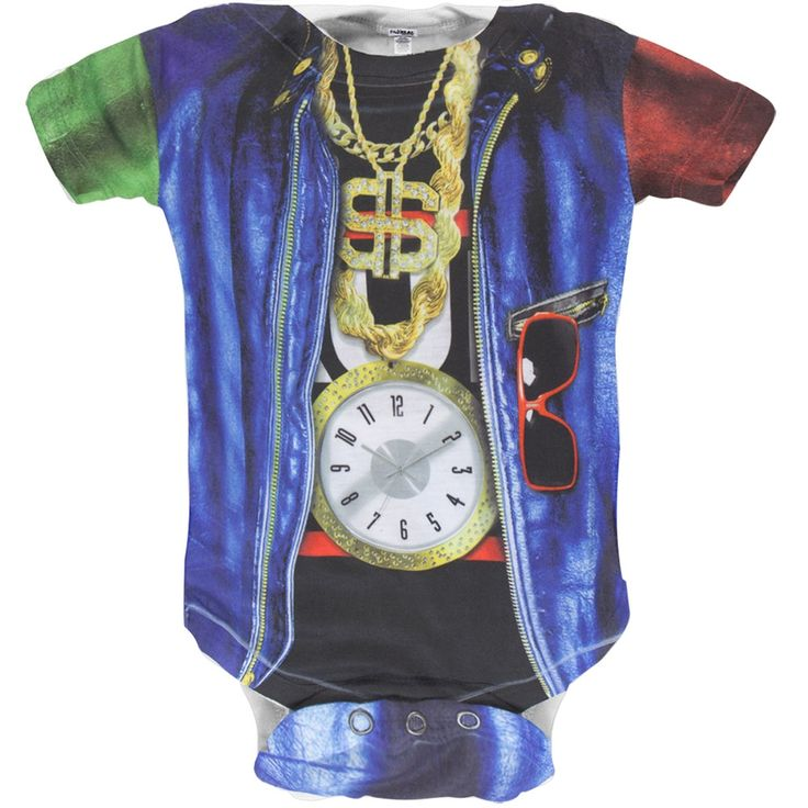 Faux Real - Old School Rapper Costume Baby One Piece