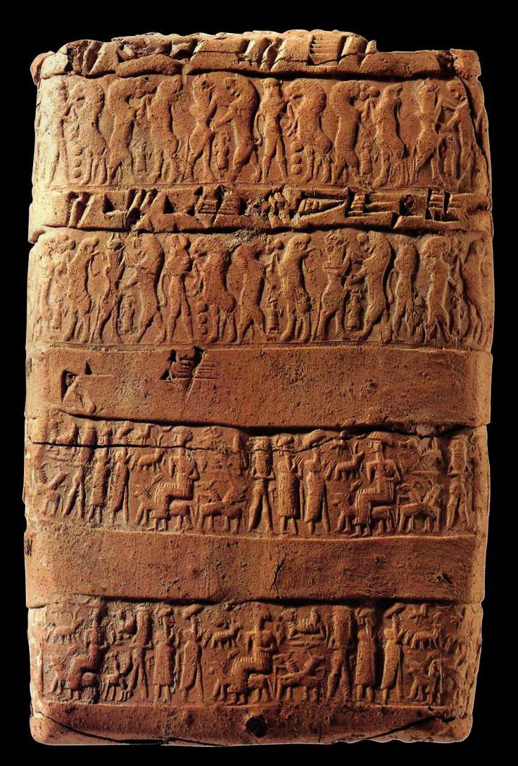 Hittite, terracotta ancient Babylon and ancient Assyrian printing on envelopes, Kültepe-Kaniş 1945-1835 BC