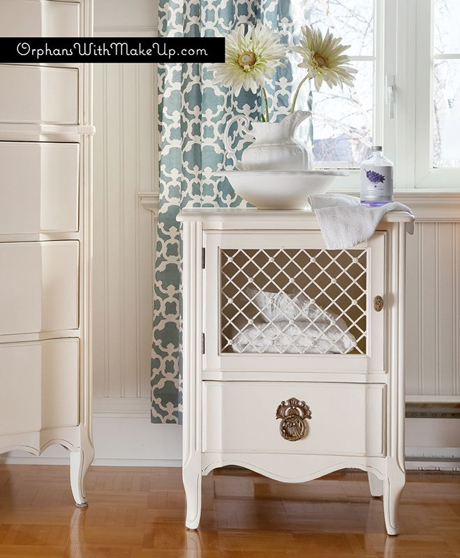 Replace Door Inset With Grille   Orphans With Makeup Refreshed Bedroom Set.  White Painted FurnitureRefinished ...