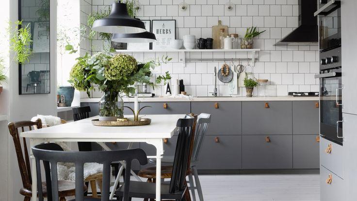 Bildresultat för grått kök mässing