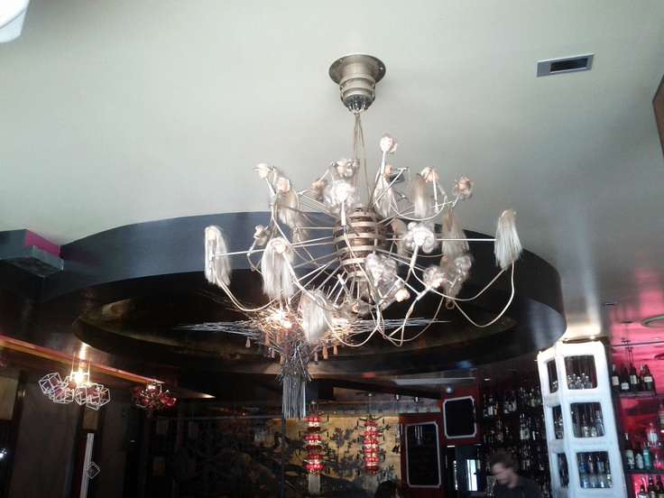 A doll head chandelier spotted in a bar in West End, Brisbane.