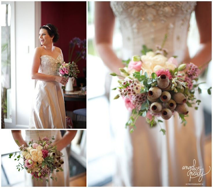 Australian Native wedding bouquet / Gum nuts, gum leaves / DIY Bride Bouquet