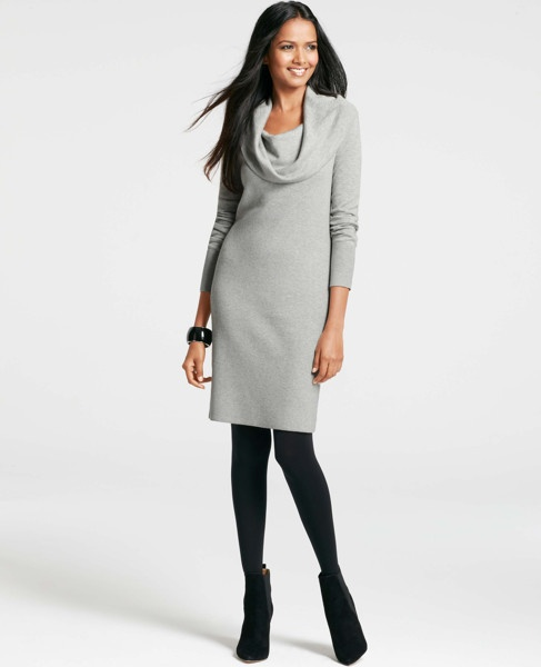 Ann Taylor - AT Dresses - Cowl Neck Sweater Dress