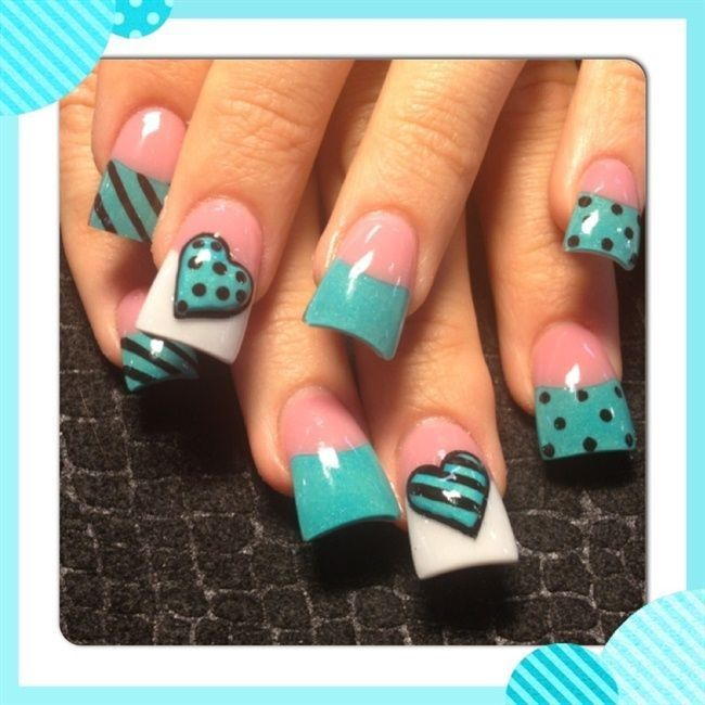 25 best ideas about teal acrylic nails on pinterest for Fish pedicure dc