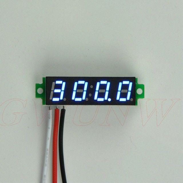4 digit DC 0-500v Digital Voltmeter LED tester Meter 12V 24V car Battery voltage