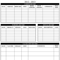 Having Trouble Keeping Records At Your Barn Here Are Some Ready Made Sheets To Help