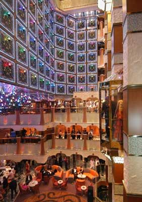 Carnival Liberty pictures.: Atrium Aboard Carnival Liberty