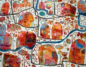 Rosetta Santucci, an Australian artist. I really like her work- too bad I could never afford it!