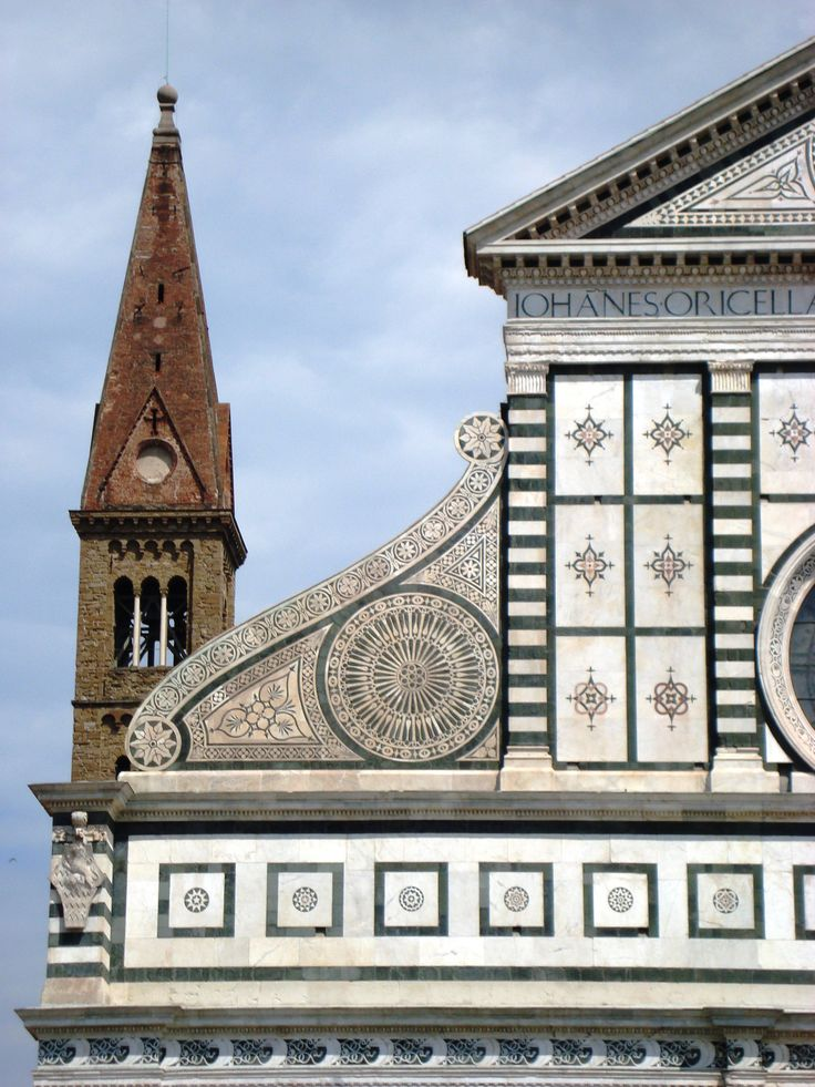 detail of Alberti's design for the facade of Santa Maria Novella, Firenze. Florence