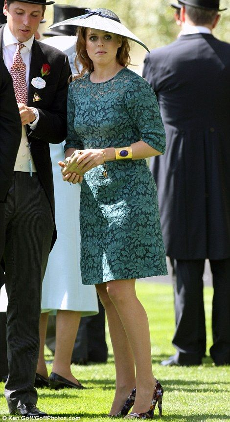 dailymail:  Royal Ascot 2014-Day 1, June 17, 2014- Princess Beatrice wore a Suzannah dress and a hat by milliner Sarah Cant