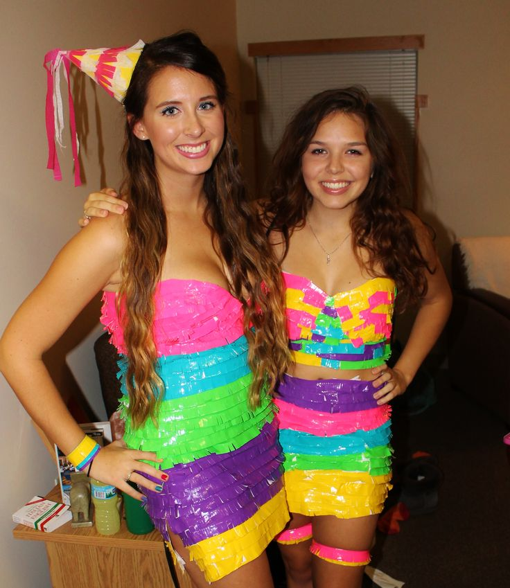 pinata costume halloween duct tape crafty pinterest
