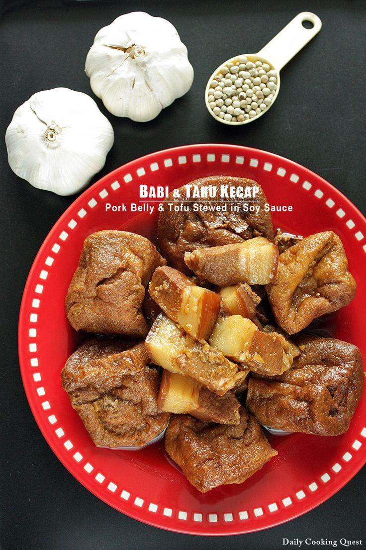 Babi dan Tahu Kecap – Pork Belly and Tofu Stewed in Soy Sauce