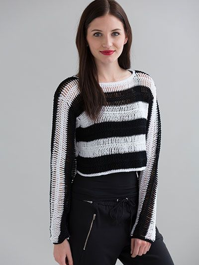 Newport Crop Top crochet pattern download from AnniesCraftStore.com. Order here: https://www.anniescatalog.com/detail.html?prod_id=123747&cat_id=24