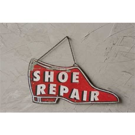 Metal Shoe Repair Sign