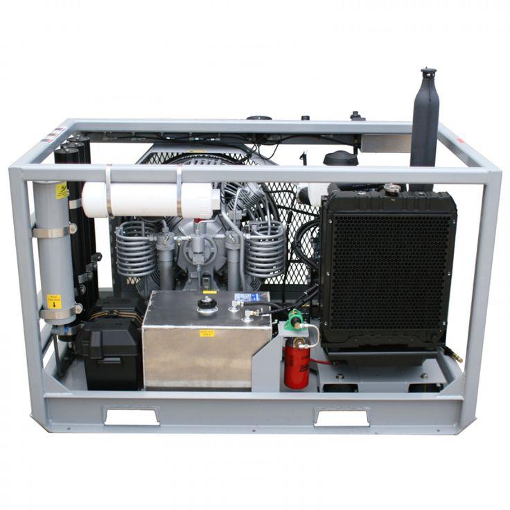Nuvair MCH36D Kubota Open Frame High Pressure Compressor - Pro-Diving Services