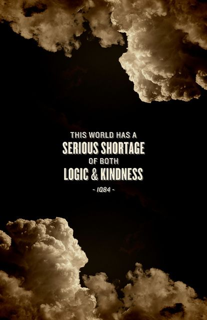 This world has a serious shortage of both logic & kindness. - Haruki Murakami, 1Q84 Love this book so much.