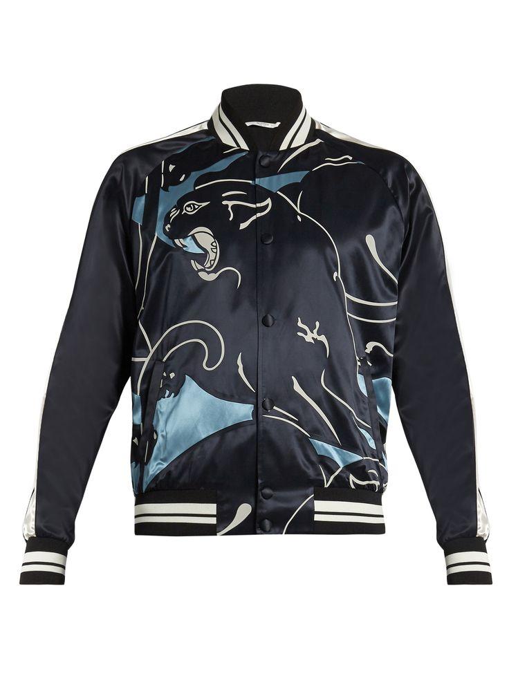 Panther-print bomber jacket   Valentino   MATCHESFASHION.COM