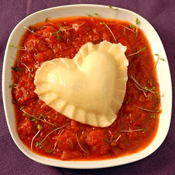 Heart Shaped Ravioli for Valentine's Day!