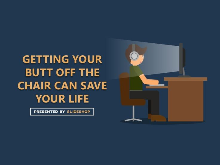 Do you spend most of your day sitting down? It's high time to do something about it. A sedentary lifestyle is not good for your health. More presentations: htt…