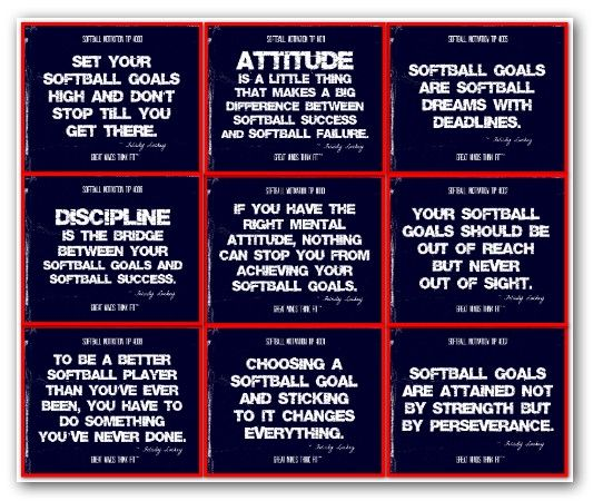 Best 25+ Motivational Softball Quotes Ideas On Pinterest