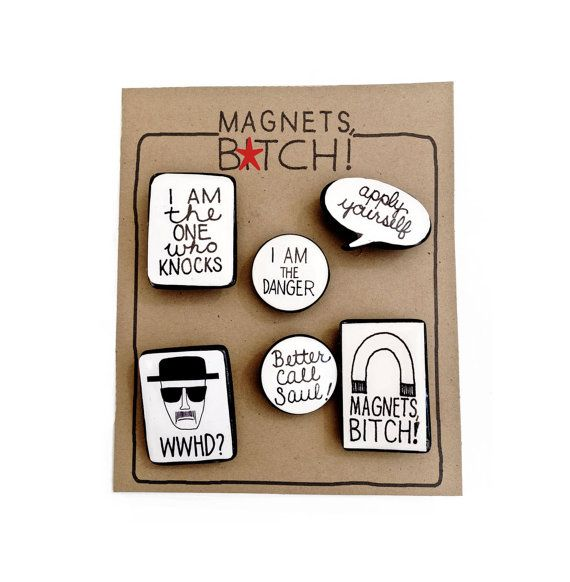 Breaking Bad Magnets by gnarlyink on Etsy, $9.99
