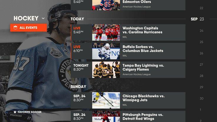Fubo TV app - world's most popular sports streaming on Behance