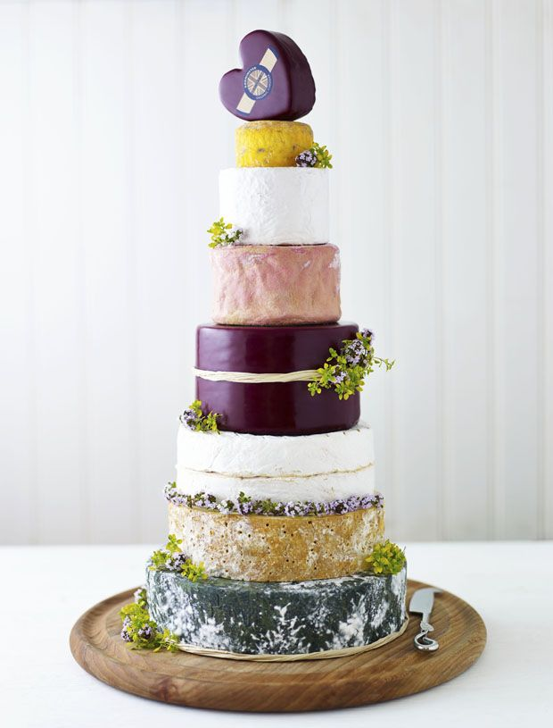 Alternative Wedding Cake Idea   The Prettiest Cheese Cake Ever! - Want That Wedding