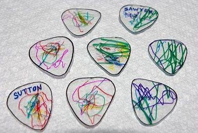 shrink plastic guitar pick