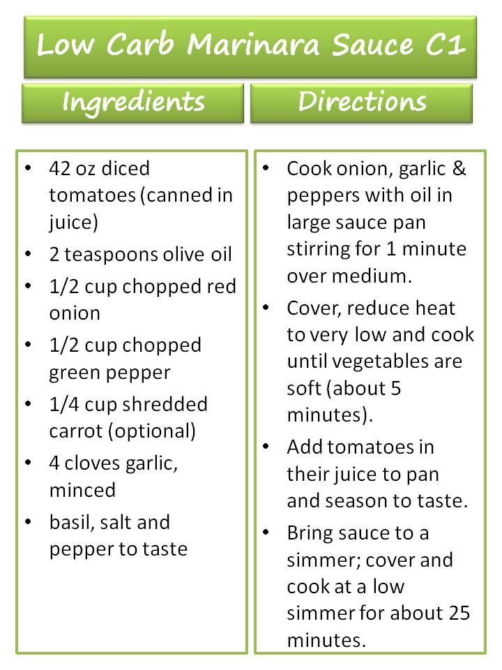 Low Carb Marinara Sauce Recipe ♥ 17 Day Diet Cycle 1