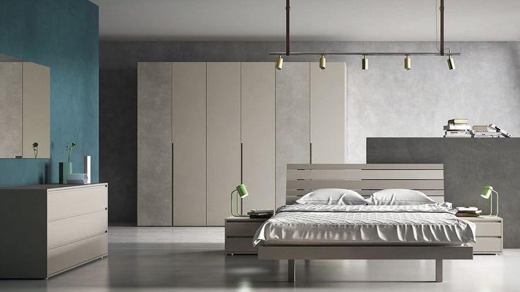 composizione n.2 collezione light collection ''Orme''  #camera #armadio #comò #comodini #letto