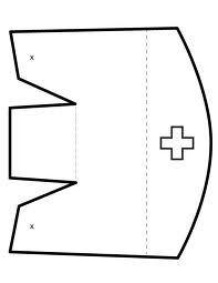 Resultado de imagen de how to make a nurses cap costume out of paper