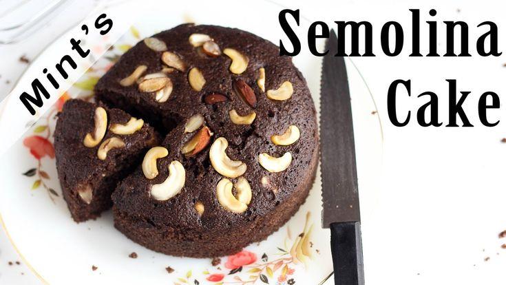Chocolate Rava Cake In Pressure Cooker - Suji Cake Recipe in Hindi Semol...