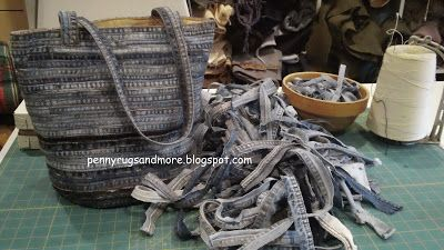 Make a denim bag with nothing more than thread and seams!  Follow Colleen's tutorial at Pennyrugsandmore.blogspot.com
