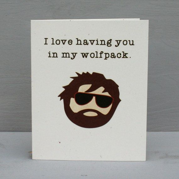 The Hangover Wolfpack Romantic Card by perksofaurora on Etsy, $3.75