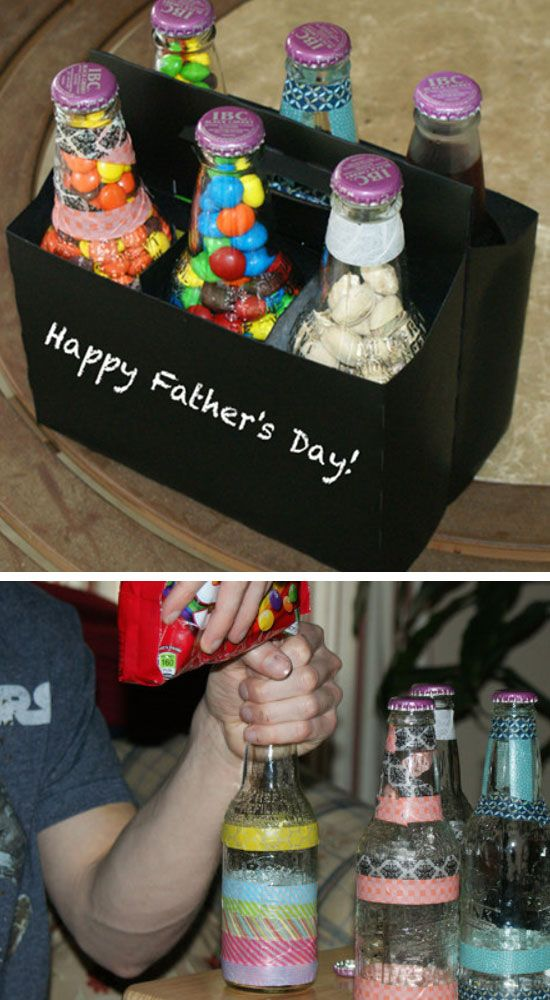Homemade Six Pack of Treats for Dad | Click Pic for 18 DIY Fathers Day Crafts for Kids to Make | Homemade Fathers Day Crafts for Toddlers to Make