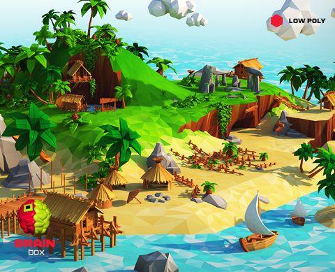 Geometric Landscape – Tropical Island / Low Poly https://www.assetstore.unity3d.com/en/#!/content/21608