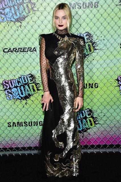 Margot Robbie's Unicorn Dress Is Straight-Up Magical #refinery29  http://www.refinery29.com/2016/08/118713/margot-robbie-alexander-mcqueen-unicorn-dress