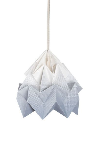 Paper origami lampshade from Snowpuppe - super cool!