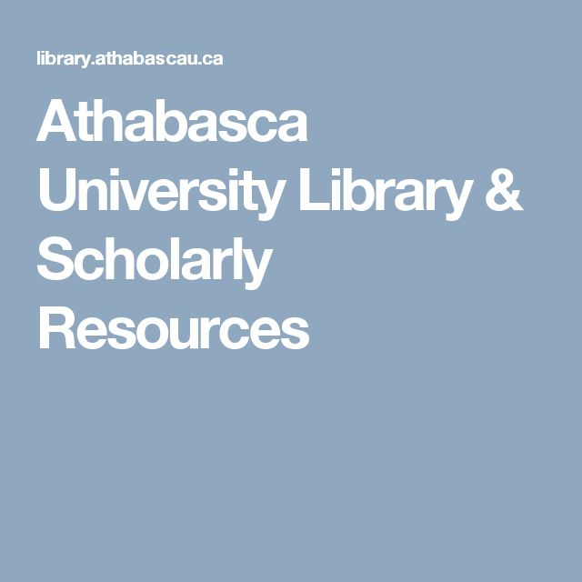 Athabasca University Library & Scholarly Resources