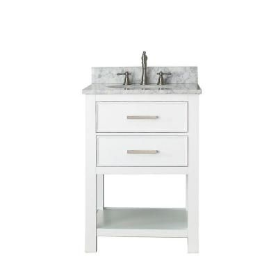 Gallery One Avanity Brooks in Vanity Only in White finish Avanity Avanity Brooks In Vanity In White X X InchesSolid
